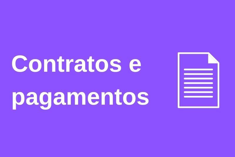 Contratos e processo de pagamento